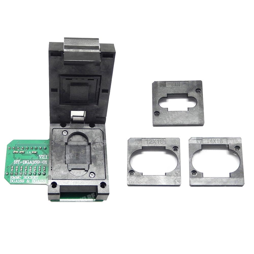 Free shipping RT BGA169 01 BGA169 BGA153 EMMC Adapter V2 1 With 3pcs BGA bounding box