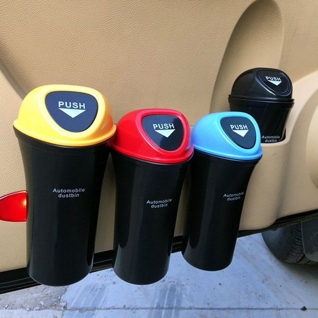 Upgraded Mini Car Trash Can with Clip Auto Garbage Bin Home Table Trash Can Dust Case Storage Holder Car Styling