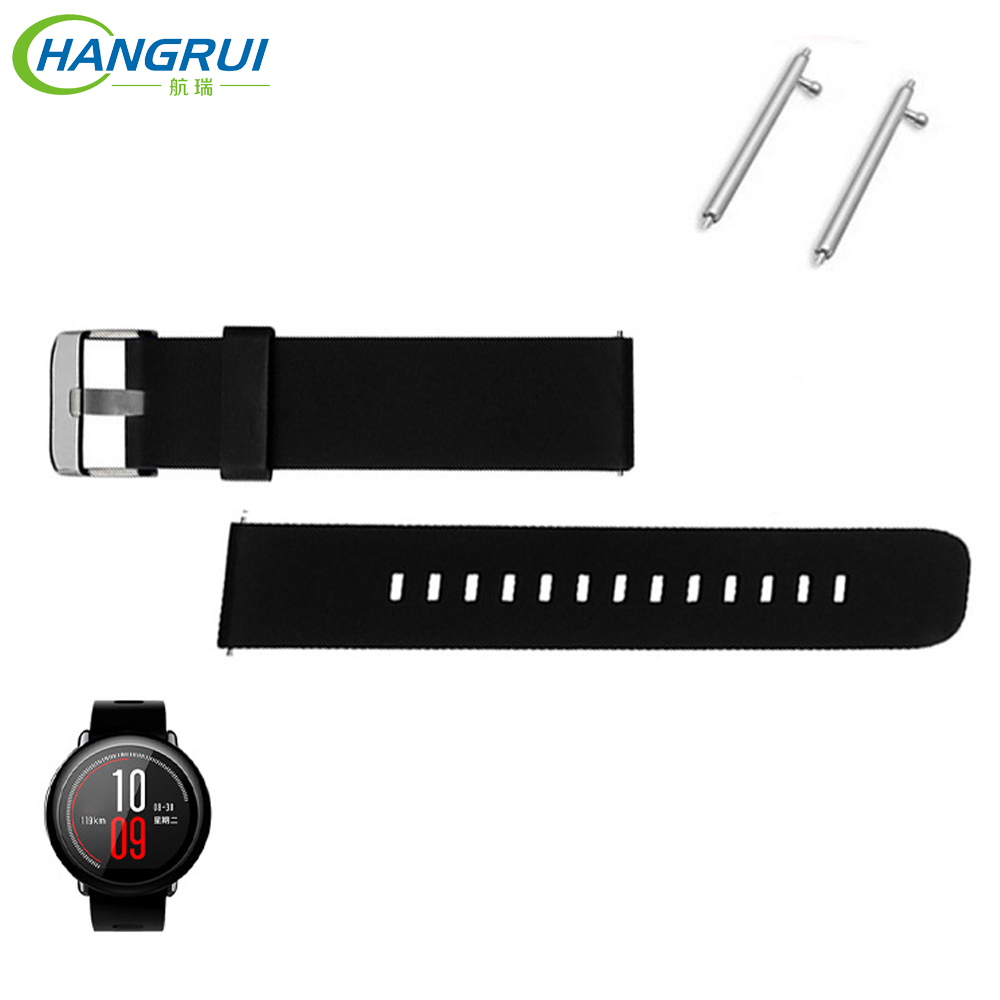 22MM Silicone Watch Band For Xiaomi Huami Amazfit Pace SmartWatch Bracelet Belt Wrist Strap For Huami Amazfit Band Stratos 2 2S