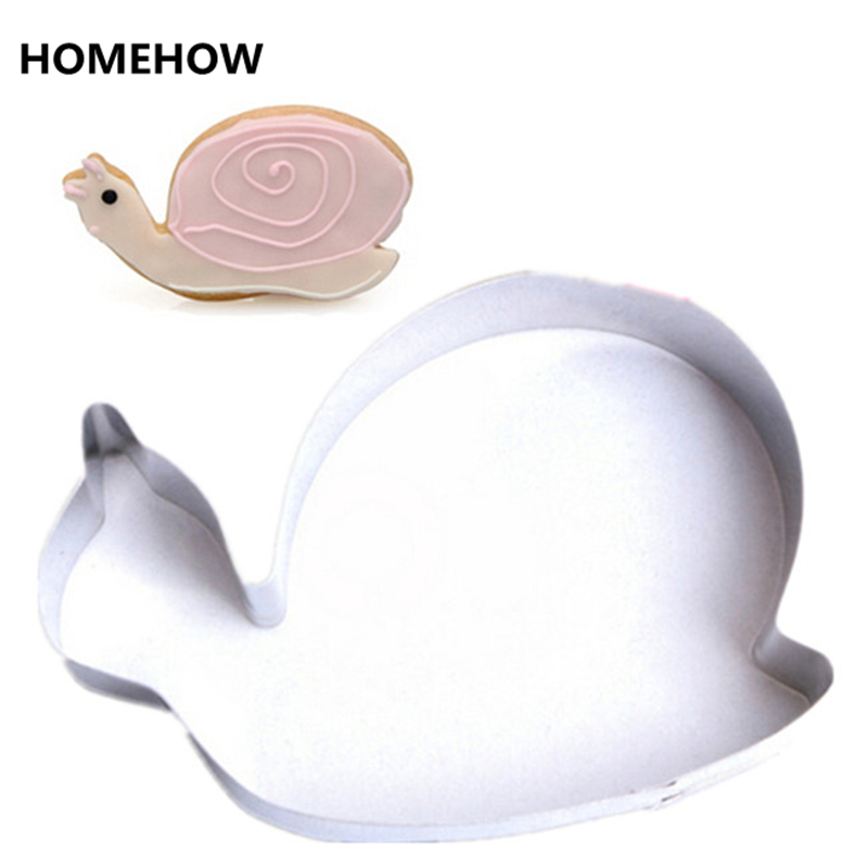 1PC/Lot Cute Insect Snail Cookie Cutter 7.5*5.1cm Stainless Steel <font><b>Inox</b></font> Pastry Cookie Biscuit Cutter DIY <font><b>Kitchen</b></font> Modelling <font><b>Tools</b></font> image
