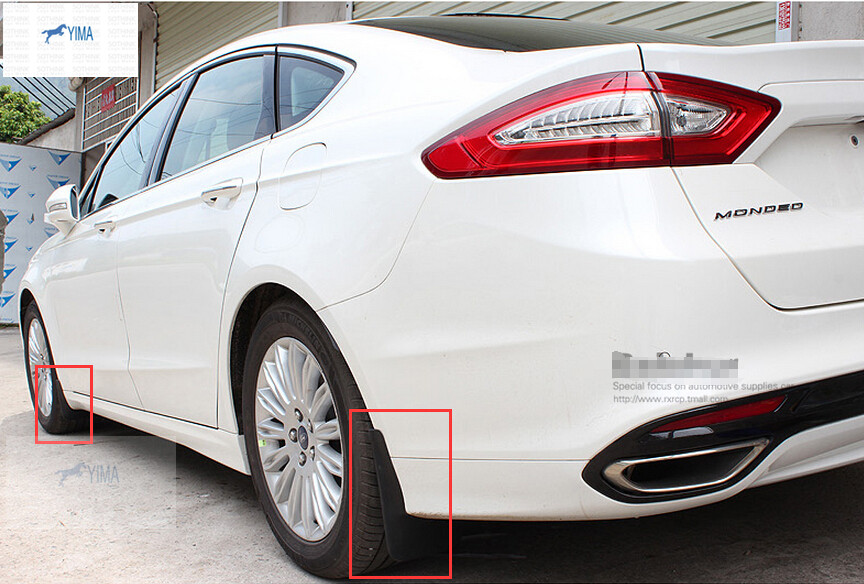 For Ford Mondeo / Fusion 2014 2015 Front + Rear Mudguards Mud Flap Flaps Splash Guards Fender Protector Cover Trim for ford explorer 2013 2018 plastic more fashion front rear mud guard mudguards splash flaps cover protector trim 4 piece
