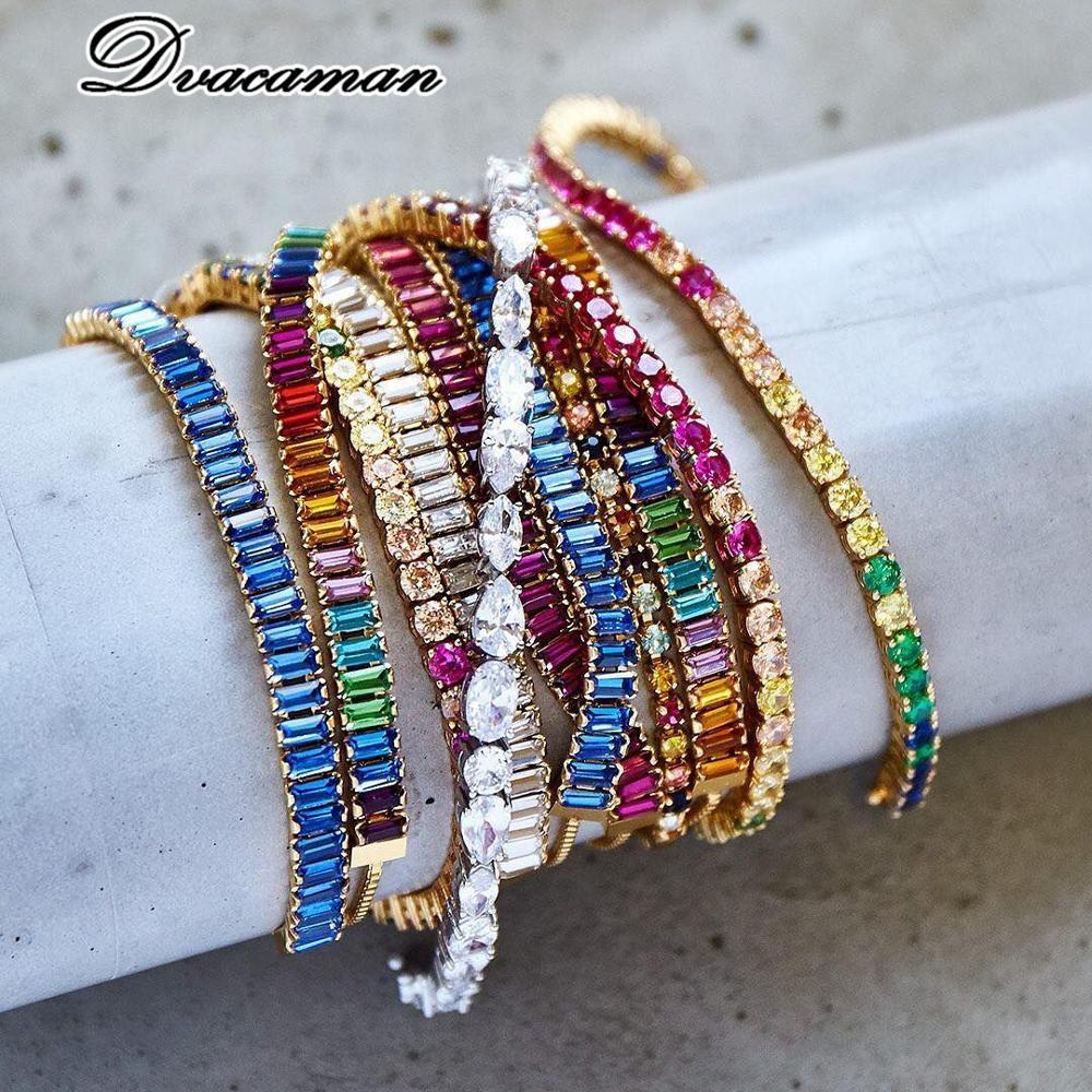 Dvacaman Trendy Crystal Geometric Beads Charm Bracelets Bangle Boho Vintage Wedding Party Accessories