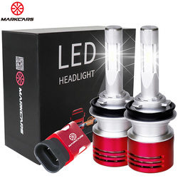 MARKCARS V5 H7 CSP LED Car Headlight Bulb H4 H1 H3 H11 9005/HB3 9006/HB4 9012 Super Bright Turbo Cooling 60W Auto Lamp 6000K 12V