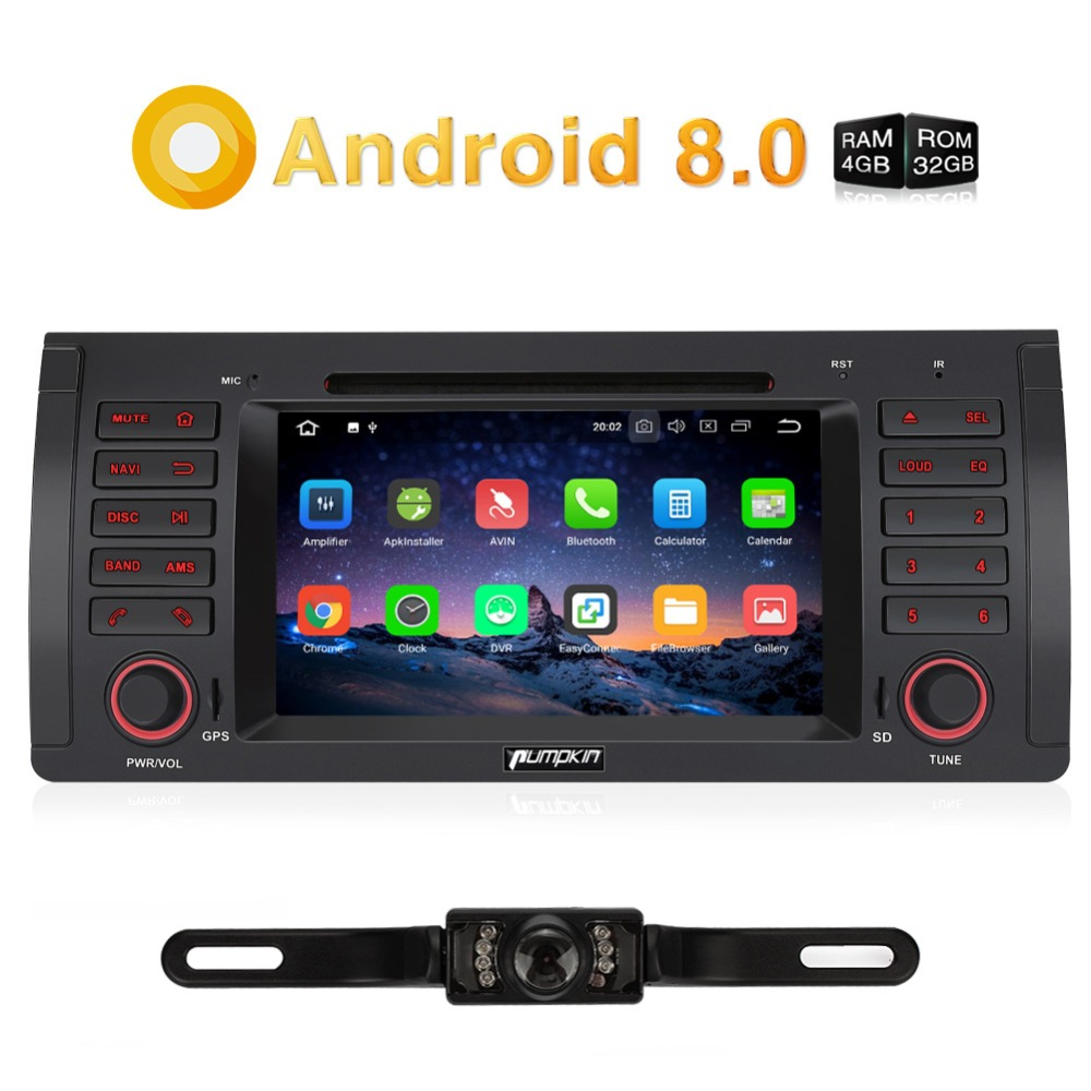 "Pumpkin 2 Din 7"" Android 8.0 Car DVD Player GPS Navigation Touch Screen Car Stereo For BMW E39/M5 Wifi 4G FM AM Radio Headunit"