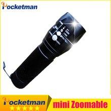 1pcs 2000Lumens CREE Mini lanterna LED military hunting camping laser Flashlights Zoomable Free shipping zk15