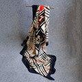 2017 Моды бандана Шарфы Роскошные Женщины Марка тонкий Шелковый Шарф Женщины Шаль Высокого Качества мода дамы Печати хиджаб обертывание