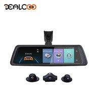Dealcoo 2018 ADAS 4 Channel Car DVR Camera Video Recorder Mirror 4G 10 Media Rearview Mirror 8 Core Android Dash Cam FHD 1080P
