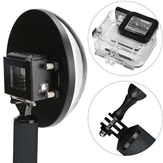 Dôme 6 pouces pour Gopro Hero 6 5 caméra d'action noire avec boîtier étanche Go Pro 6 5 Port dôme pour accessoires Go Pro