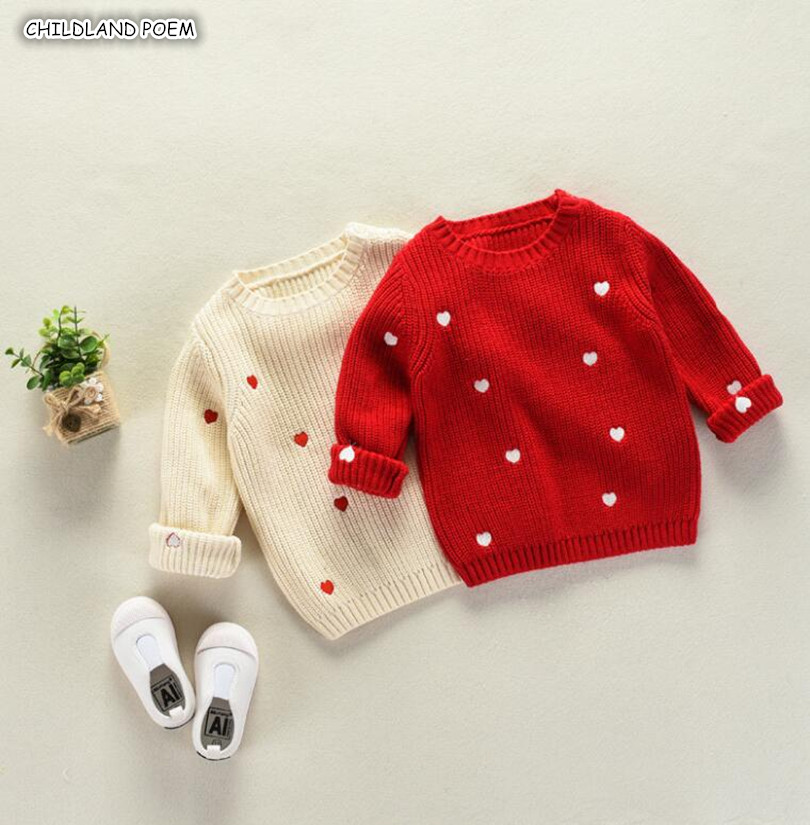 Girls Sweaters Winter Spring Kids Baby Sweaters Toddler Girls Cardigan 100% Cotton Knitted Baby Boys Sweater Girls Pullover 1-7Y