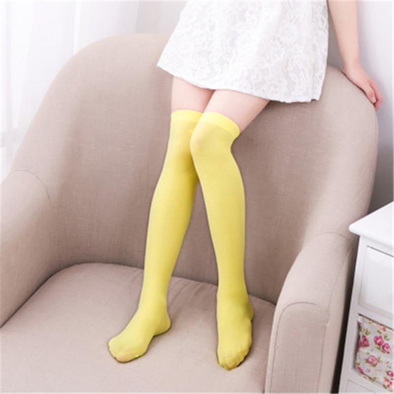 High Elasticity Girl Cotton Knee High Socks Uniform Flowers And Leaves Flamingos Women Tube Socks