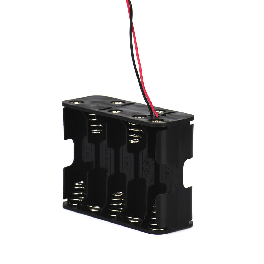New Black Battery Charge Holder Case 1Pcs 10 AA 2A Battery 15V Clip Holder Box Case Storage with Wire Leads #S