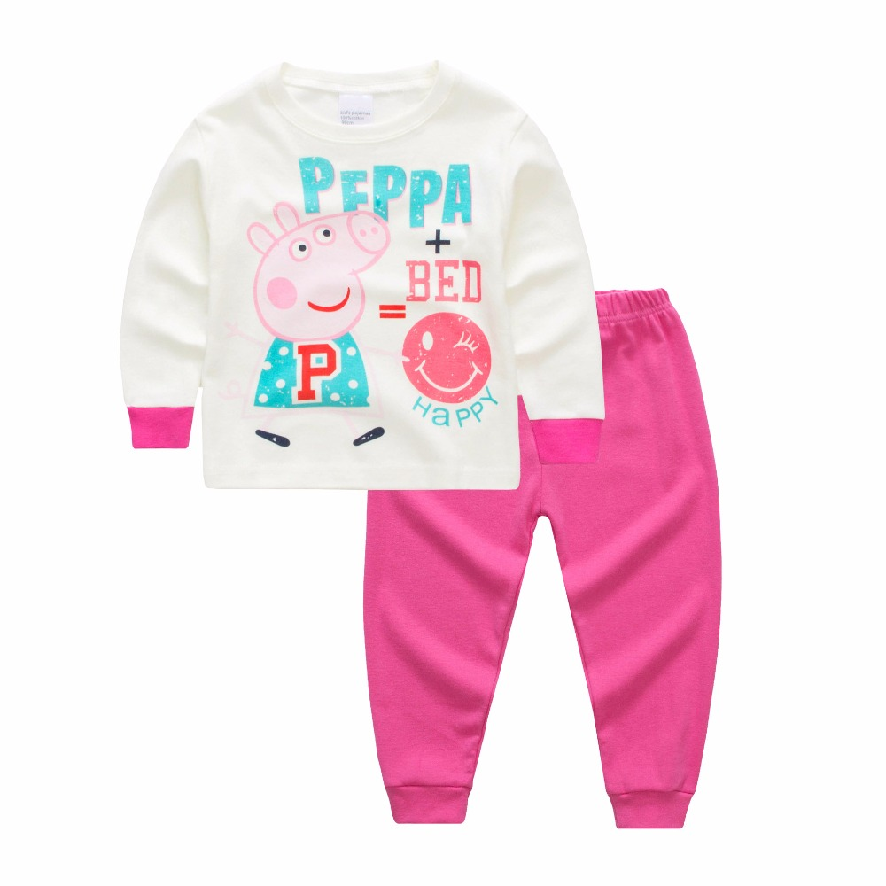 Girls Clothes Set Children Kids girl Leisure Wear Baby Girl Sleepwear Long Sleeve Toddle Clothing Cute Cartoon Pajamas suit
