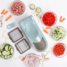 ONEUP Vegetable Cutter Mandoline Slicer Dicer Garlic Onion Fruit Presser Chopper With 8 Blades 8 Dicing Blades Kitchen Tools(China)