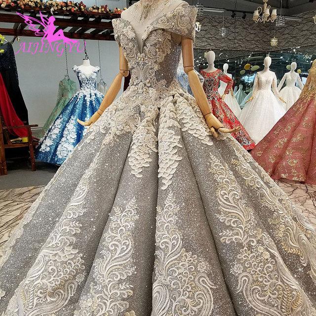 Aijingyu rendas vestidos de casamento vestidos china vestidos branco ocidental pérola vestido 2021 2020 longo nupcial robe