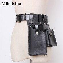 Case Pouch Waist-Bag Fanny-Pack Women Luxury Purse Pockets-Fit iPhone Black Mihaivina