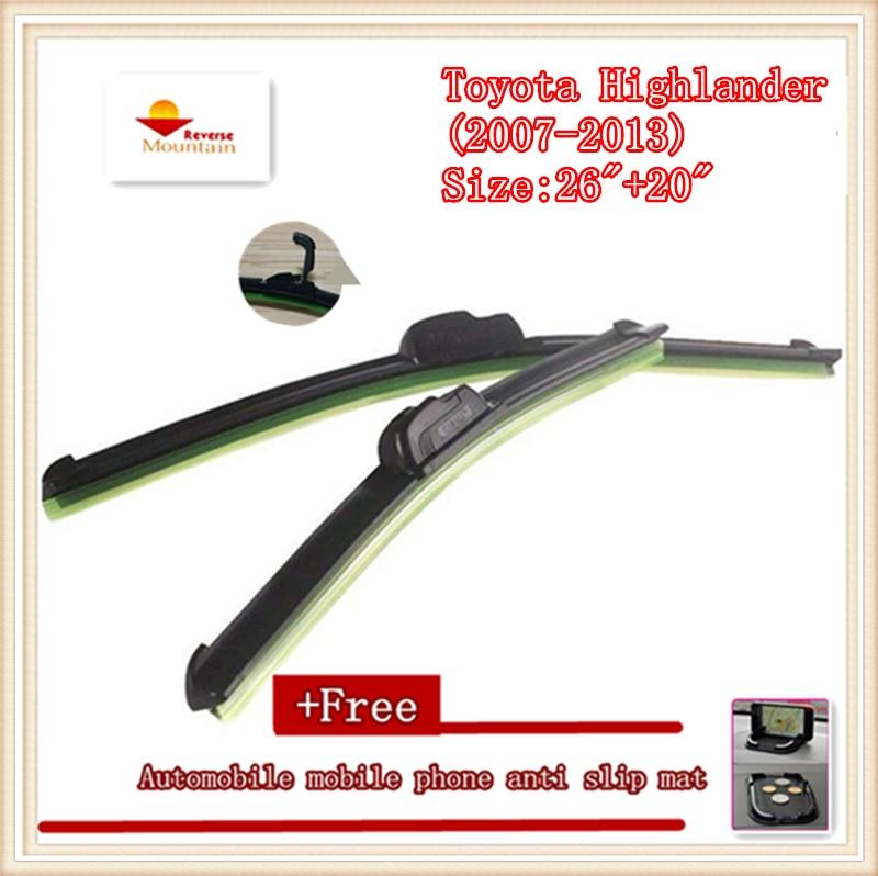 High-quality Car Windscreen Wiper For Toyota Highlander (2007-2013) Size:26+20