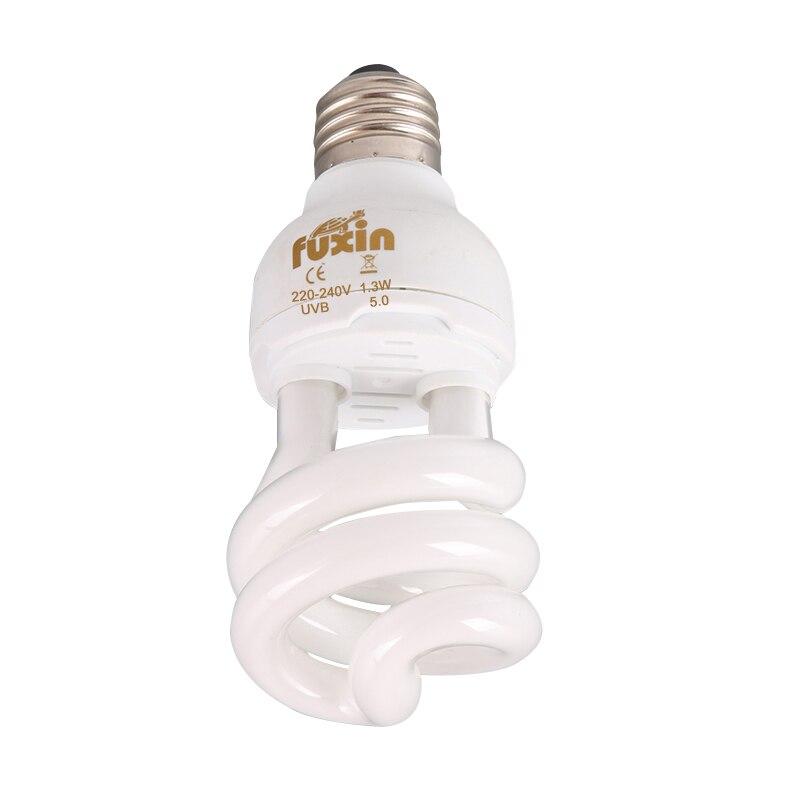 Reptiles lámpara 220 V-240 V ultravioleta UVB tornillo luz comprimida 5-10.0 13 W E27 bombillas para lagartos tortugas serpientes