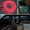 Para Cadillac SRX 2004 ~ 2015 Car Interior Painel de Luz Ambiente de iluminação Para O Carro Interior Fresco Tira Reequipamento Luz Óptica fibra de Banda