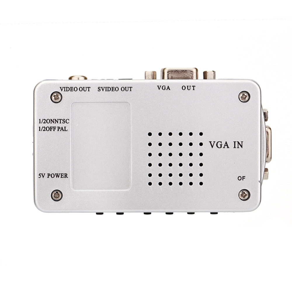 Universal PC Converter Switch Box VGA To TV AV RCA Signal Adapter Video Switch Composite Supports NTSC PAL For Computer Laptop in VGA Cables from Consumer Electronics