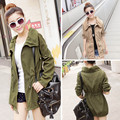2016 Fashion Women's Coat Loose Slim Outwear Korean Lady Fashion Jacket Women Casual Windbreaker C039