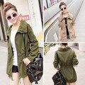 2016 das Mulheres da Moda Casaco Solto Fino Outwear Coreano Senhora Mulheres Jaqueta Moda Blusão Casuais C039
