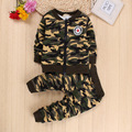 Boys Camouflage Clothing Set For Baby Clothes 2 Pieces Sport Suit Children Tracksuit Jacket Shirt Trouser Kids Sportswear