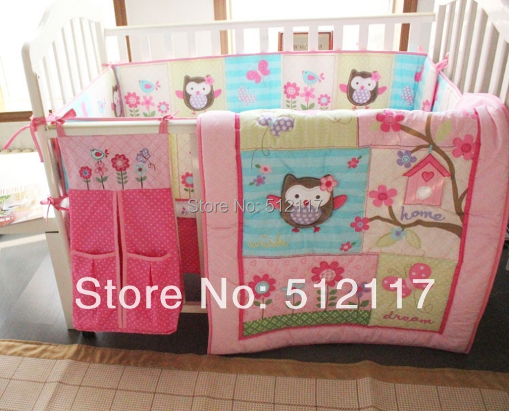 New 8pcs Baby Crib Cot Bedding Set Quilt Per Sheet Dust Ruffle Ny Bag 5 Items Bir Owlet For In Sets From Mother Kids On