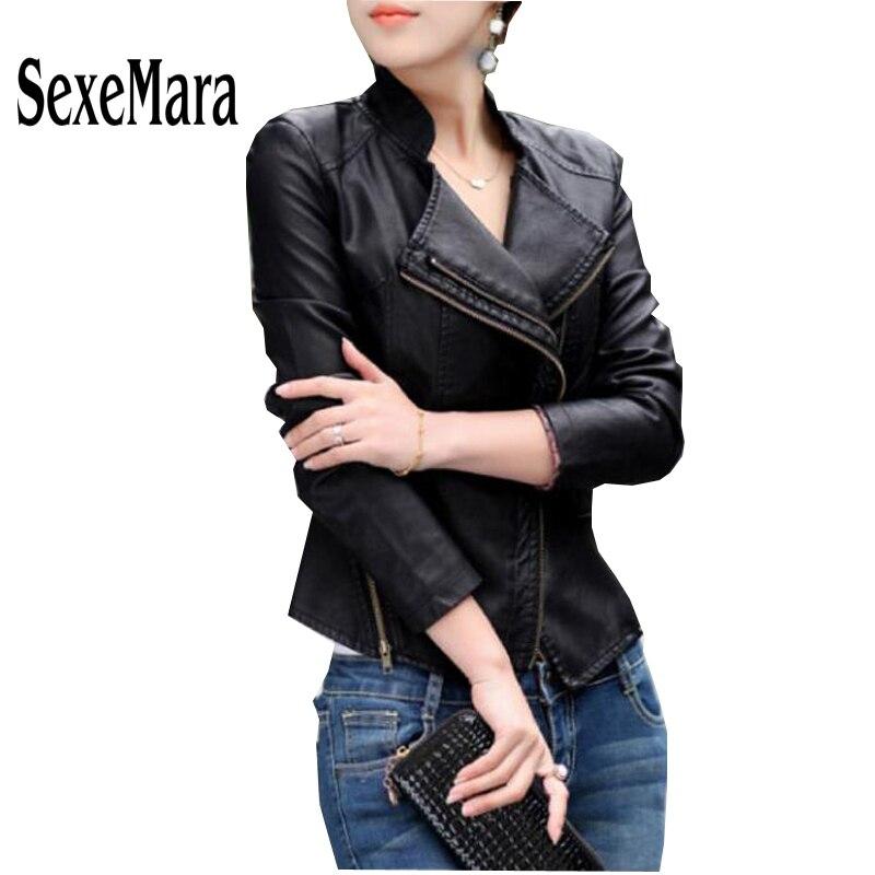 Online Get Cheap Women's Short Leather Jackets -Aliexpress.com ...