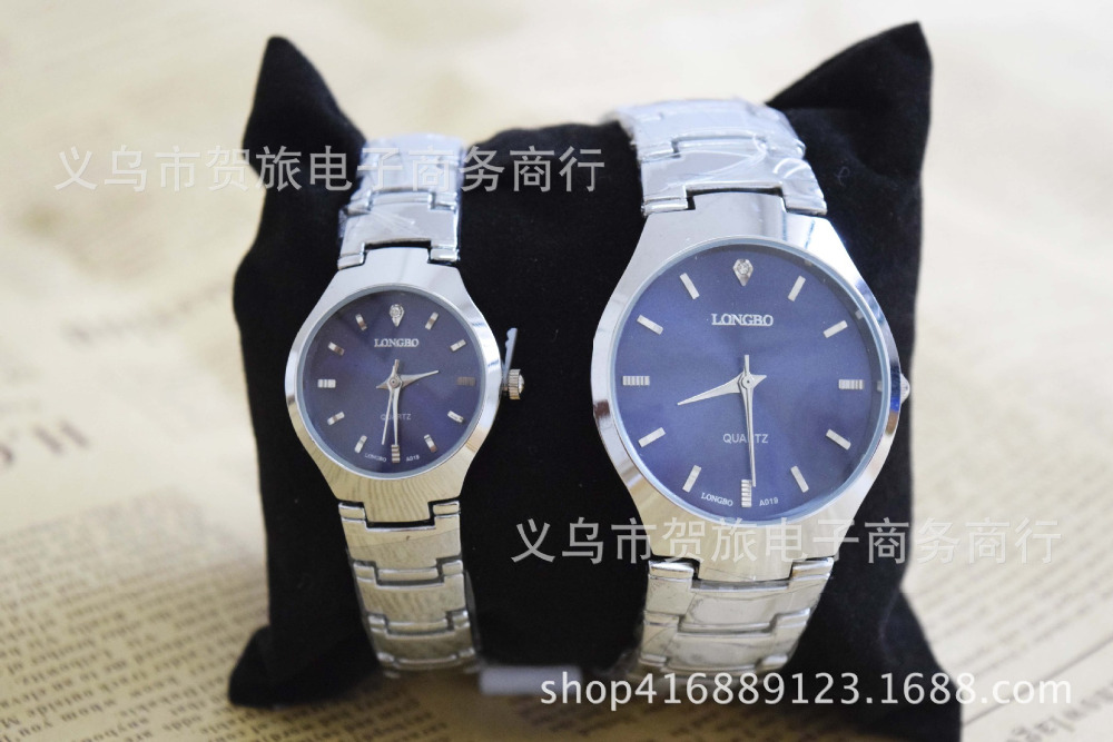 Fashion LONGBO Brand Water Resistant Watches Men Woman Lovers'  Good Quality Couple Full Stainless Steel Quartz Sports Watches