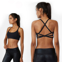 2018 Hot Back Sexy Yoga Bra Women Padded Sports Bra Shake proof Running Bra Workout Gym Bra Wire Free Push Up Fitness Sport Top