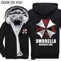 Resident Evil Hoodies Umbrella sweatshirts 2016 autumn winter new fleece Anime umbrella hoodie men jacket men's sportswear M-4XL
