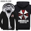 Resident Evil Sudaderas sudaderas 2016 otoño invierno nueva lana Anime paraguas Paraguas sudadera con capucha ropa deportiva chaqueta de los hombres de los hombres M-4XL