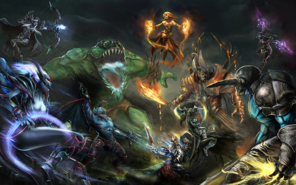 Free Shipping,Defense Of The Ancients, DotA,Poster HD HOME