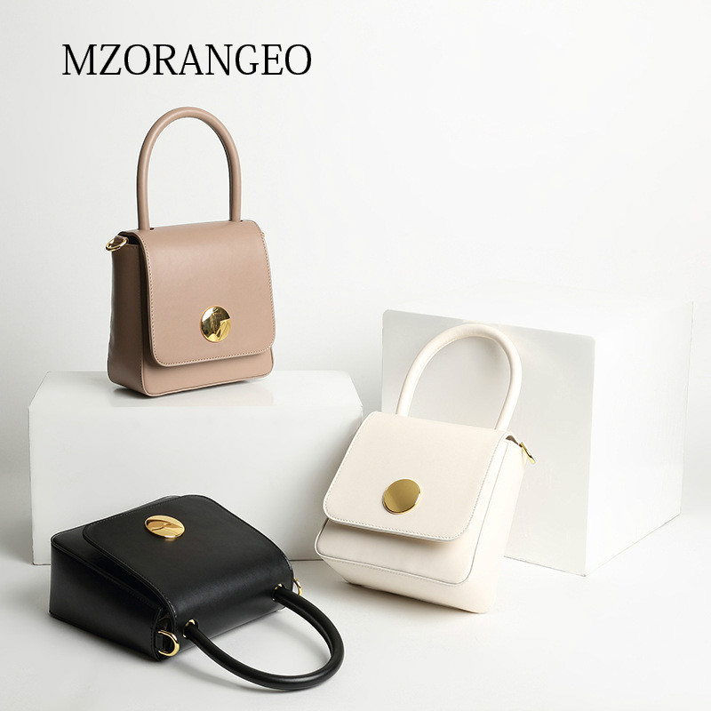 MZORANGE NEW 2018 Vintage Classic Small Flap Tote Genuine Leather Lady Bag Elegant Women Handbag unique Crossbody Bag for Female new 2018 classic patchwork flap crossbody bag for female women canvas