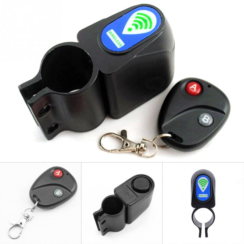 Sensor Bike Lock Wireless Remote Control Anti-Theft Alarm Security Alerter
