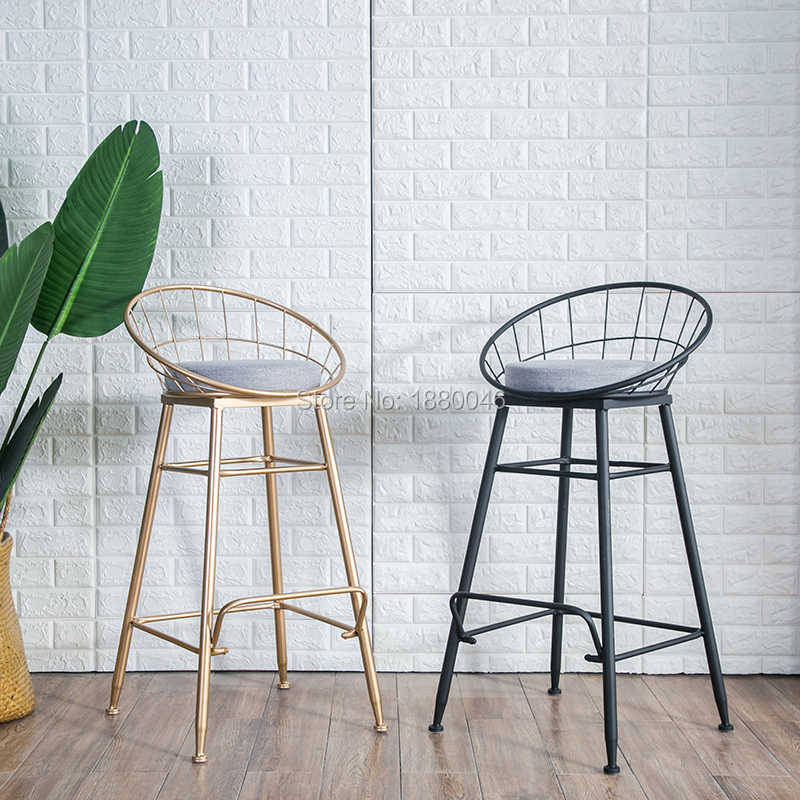 Brilliant New Coming 45Cm 65Cm 75Cm American Bar Stool Bar Chair Creative Coffee Chair Gold High Stoolgolden Modern Leisure Metal Chair Dailytribune Chair Design For Home Dailytribuneorg