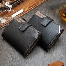 JINFAPAUL короткий Мужской кошелек многофункциональная сумка для карт на молнии с пряжкой Повседневный модный монет
