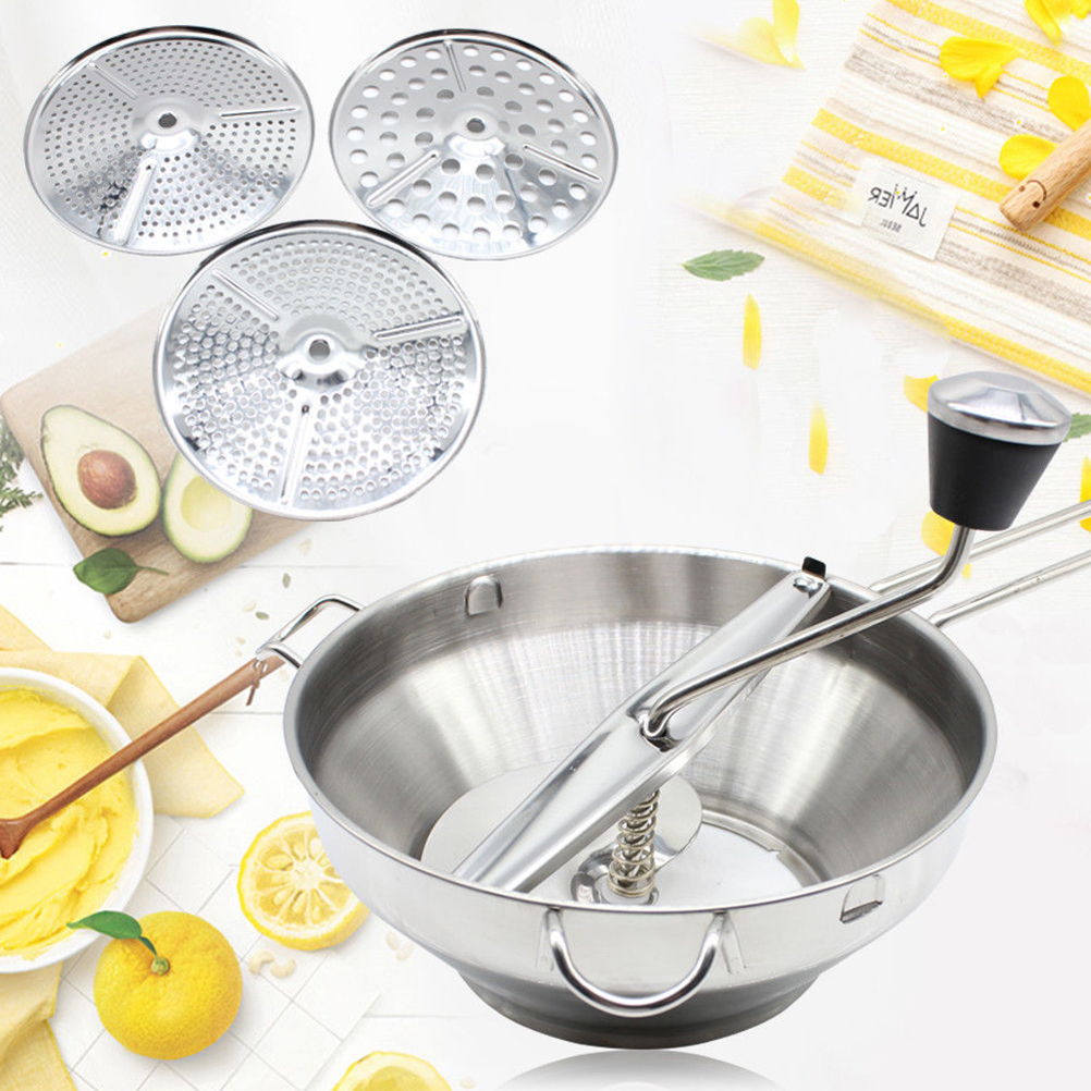 1PC Nontoxic Practical Durable Creative Stainless Steel Food Mill Jam Refiner Food Blender Fruit and Vegetable Grinder1PC Nontoxic Practical Durable Creative Stainless Steel Food Mill Jam Refiner Food Blender Fruit and Vegetable Grinder