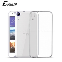 Transparent Ultra font b Slim b font Clear Silicone Case For HTC Desire 825 820 Mini