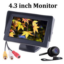 4.3 Inch Car Rearview Monitor 2ch video input with 170 Degrees Waterproof Car rear view camera Auto Parking System display