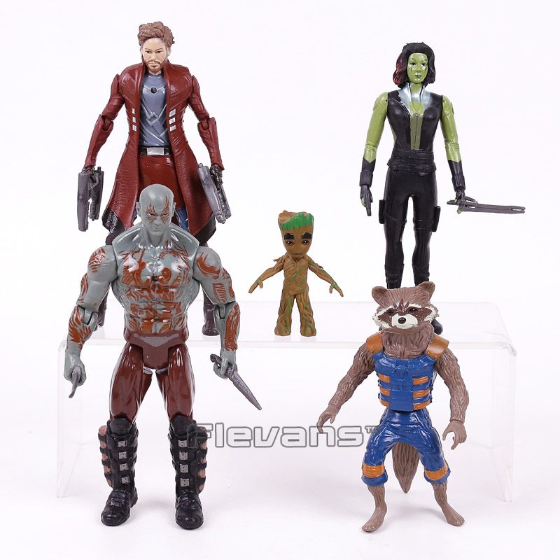 Guardians of the Galaxy 2 5pcs/set Star Lord Baby Tree Man Gamora Drax the Destroyer Rocket Raccoon PVC Action Figures Toys