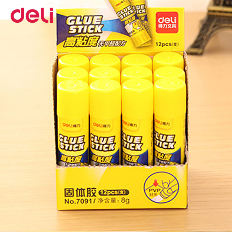 Deli 2017 School&Office Supplies Solid Glue 10 Pcs A Pack Strong Adhesives Solid Glue Stick For Children Solid Glue 1pcs