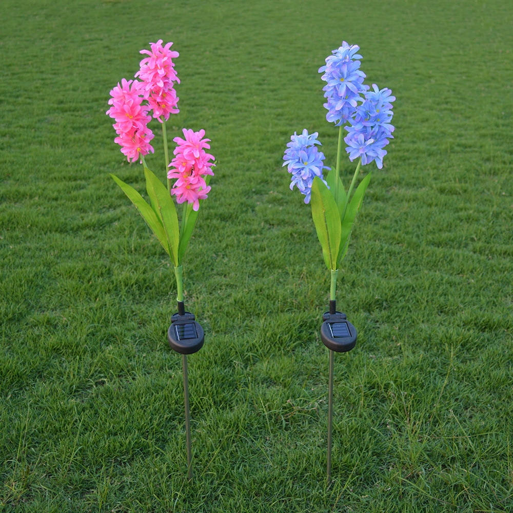 №3 head solar hyacinth lanterns LED simulation lantern outdoor ...
