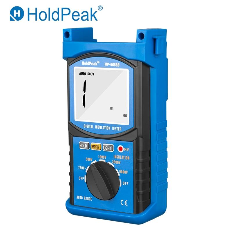 Holdpeak HP-6688B de alta qualidade digital 5000 v 1999 faixa automática resistência isolamento tester portátil isolado tester dados hold