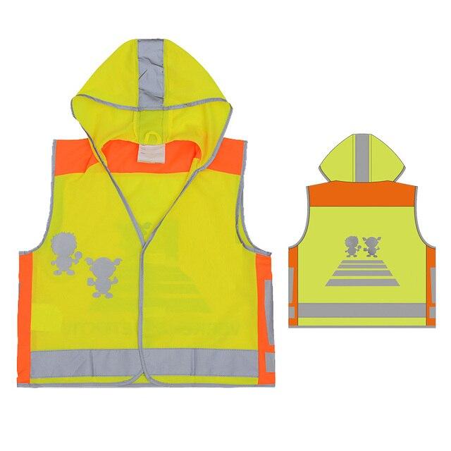 SFvest EN471 Cao khả năng hiển thị trẻ em an toàn trẻ em vest phản quang phản chiếu vest vest màu vàng miễn phí vận chuyển