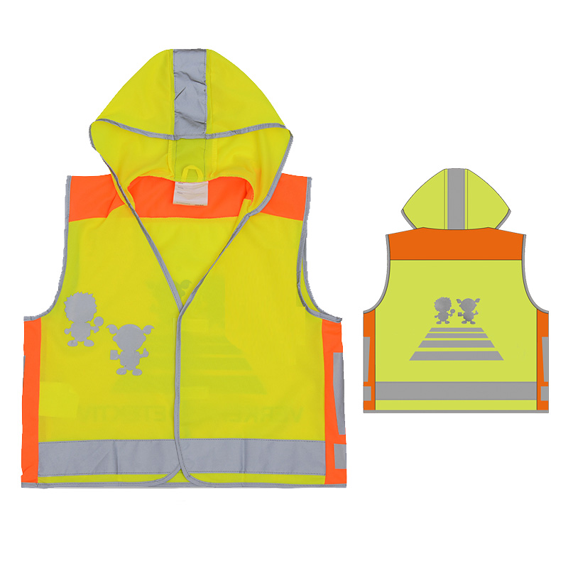 SFvest EN471 High visibility children safety vest kids reflective vest yellow vest free shippingSFvest EN471 High visibility children safety vest kids reflective vest yellow vest free shipping