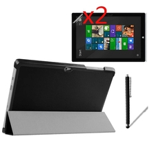 Ultra Thin Slim Magnetic Folio Stand Leather Case Smart Cover +2x Films +1x Stylus For Microsoft Surface3 Surface RT 3 RT3 10.8″