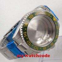 40mm sapphire glass green ceramic bezel Watch Case fit 2824 2836 MOVEMENT