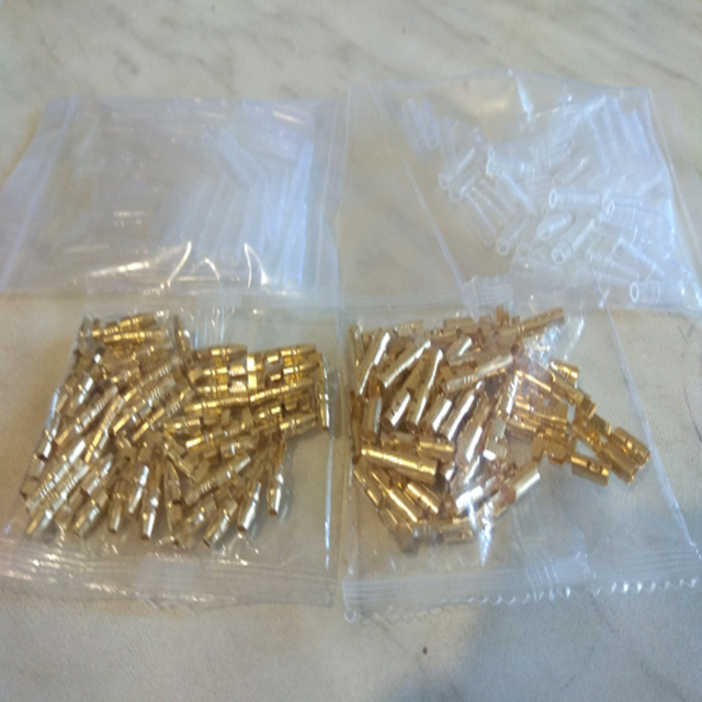 50 Set 3.9mm Male Female Motorcycle Bullet Connector Socket Classic TerminalS For Cable Wire of 1.0 mm to 2.5 mm