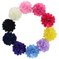 10pcs/set Fashion Hair accessory 2'' Rosettes DIY flowers satin silk carnation fabric flower Flat back hair accessory